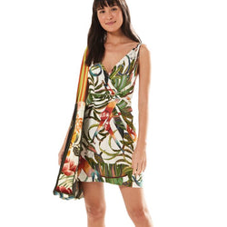Farm Rio Brazil Exclusive Rainbow Monkey Mini Dress