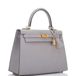 Hermès Gris Mouette Epsom Sellier Kelly 35cm Gold Hardware