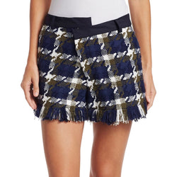 Monse Tweed Asymmetric Shorts