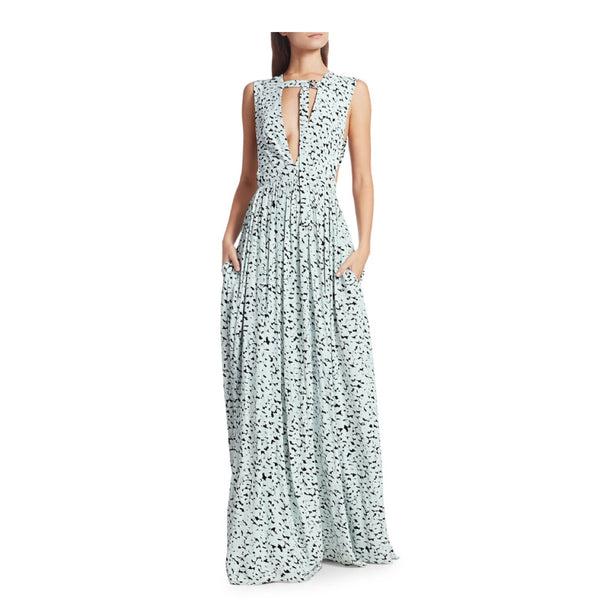Proenza Schouler Cutout Print Maxi Dress