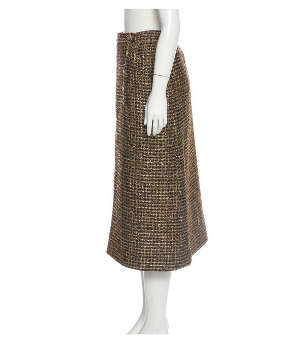 Chanel Metallic Tweed Skirt