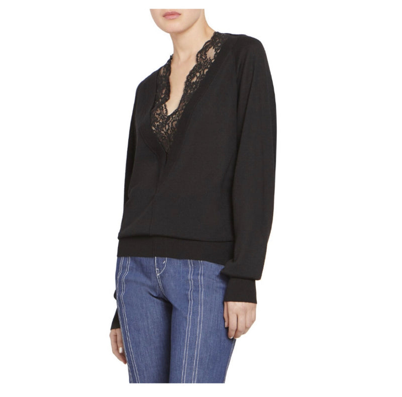 Chloé Lace Trim Sweater