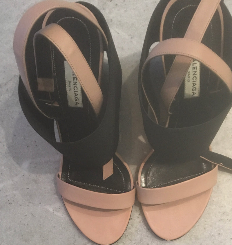 Balenciaga Prism Elastic Wrapped Wedge