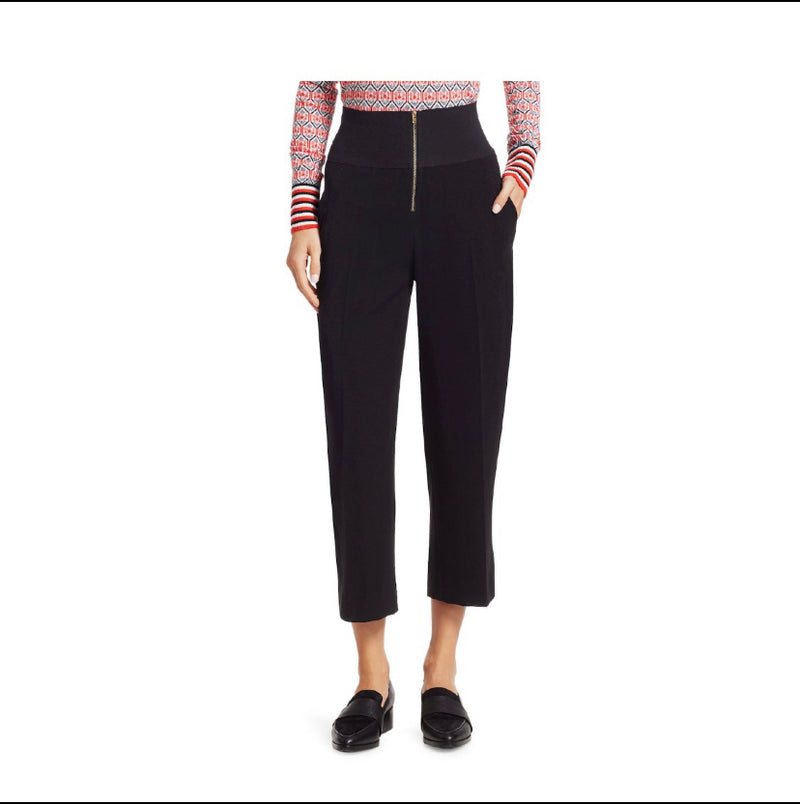 Carven High Waist Zip Trousers