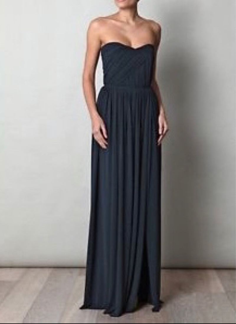 Lanvin Navy Strapless Gown