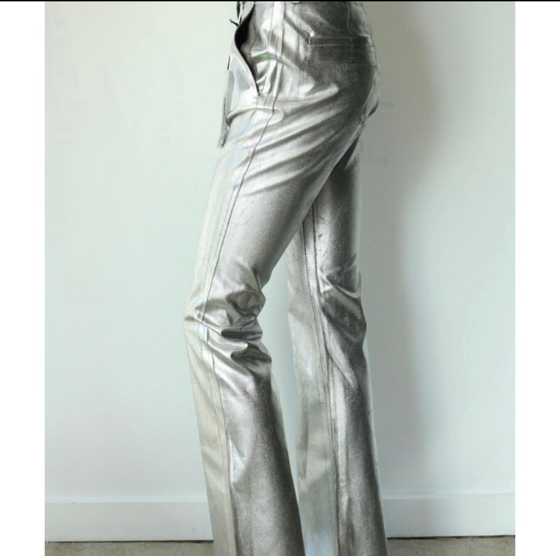 MM6 by Maison Martin Margiela Metallic Trousers