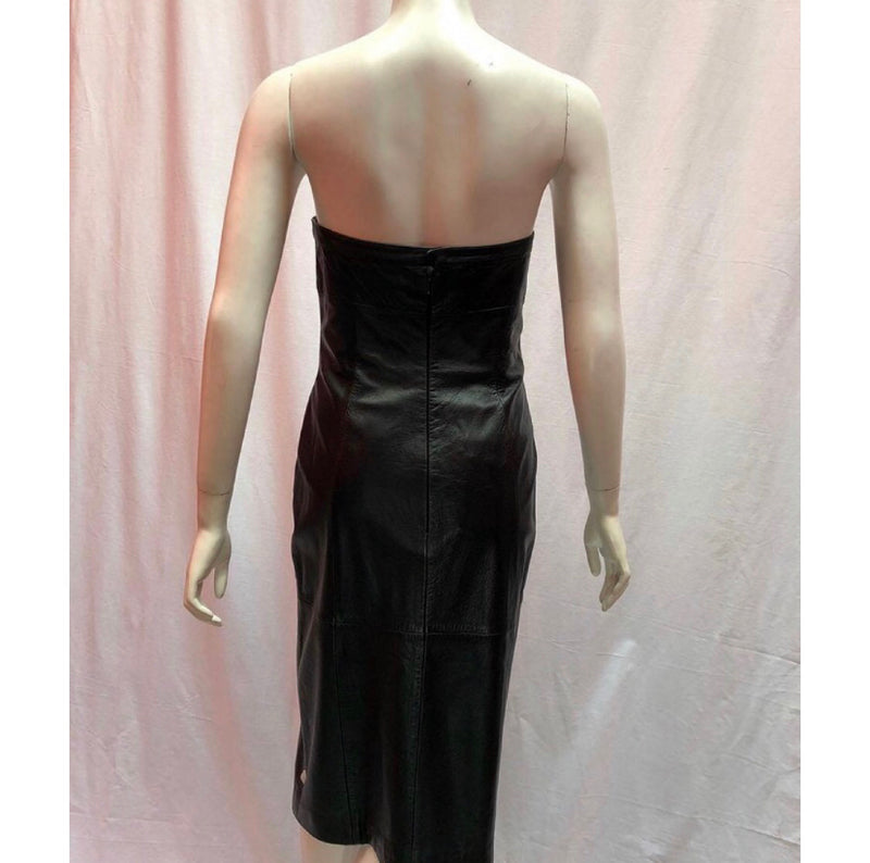 Mugler Leather Dress