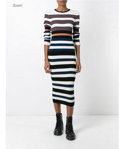 Opening Ceremony Striped Sweater Dress