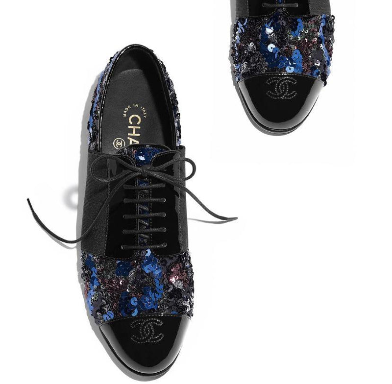 Chanel Sequin Oxfords