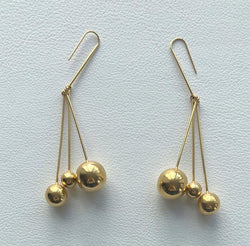 Céline Triple Ball Earrings