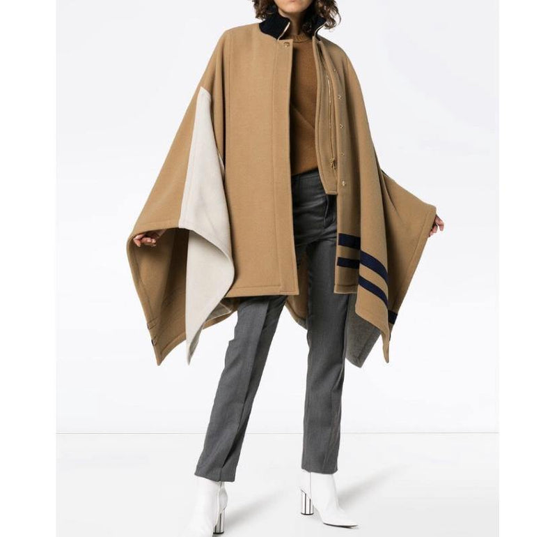 Chloé Wool Cape Coat