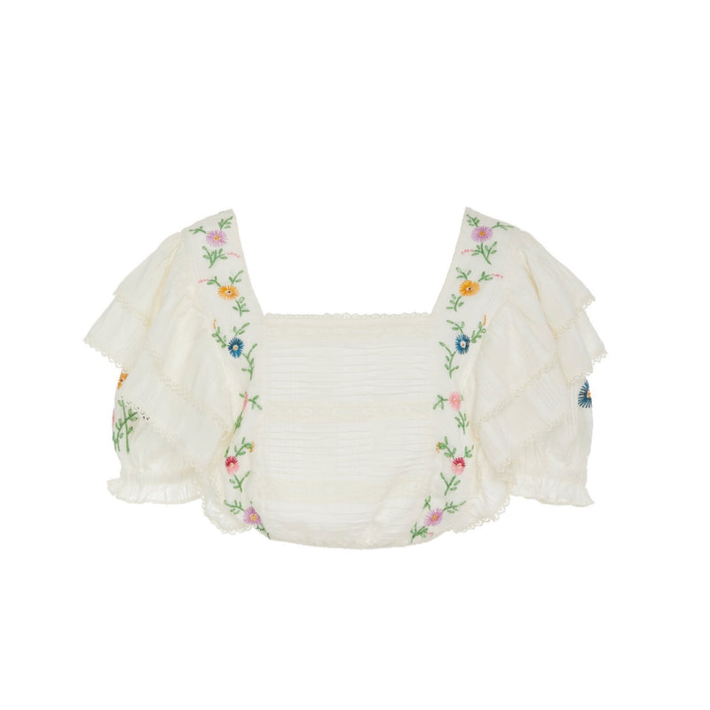 LoveShackFancy Betty Ruffled Top