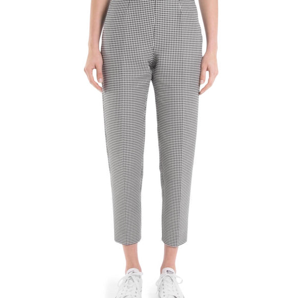 Sara Battaglia Checkered High Waisted Pants