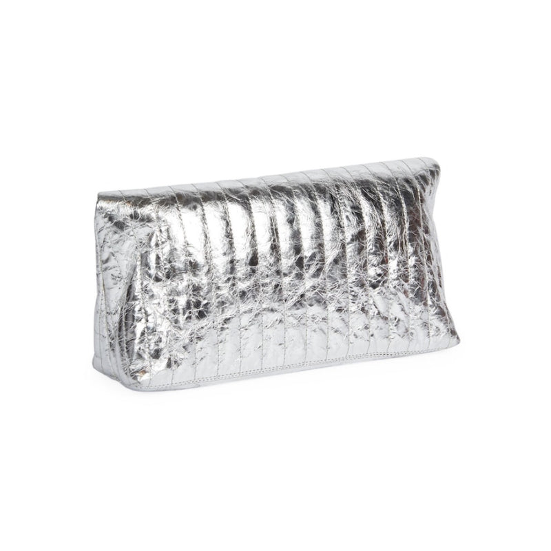 Dries Van Noten Metallic Foldover Clutch