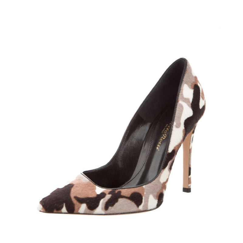 Gianvito Rossi Pony Hair Printed Pumps