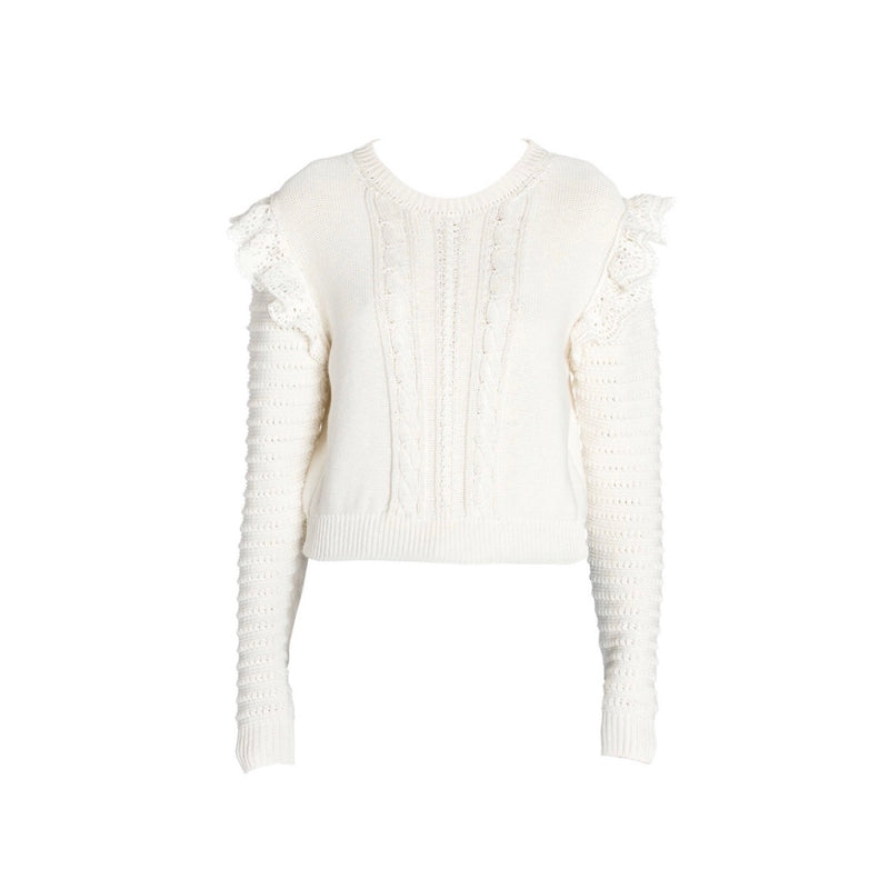 Stella McCartney Crochet Knit Ruffle Sweater