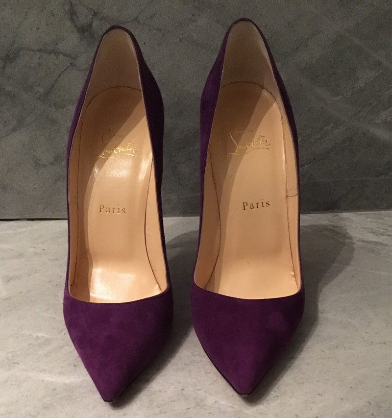Christian Louboutin Purple Suede So Kate Pump