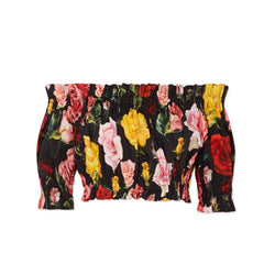 Dolce & Gabbana Floral Stretch Crop Top