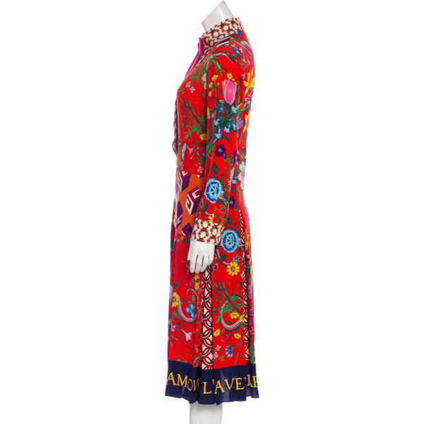 Gucci Printed Midi Dress