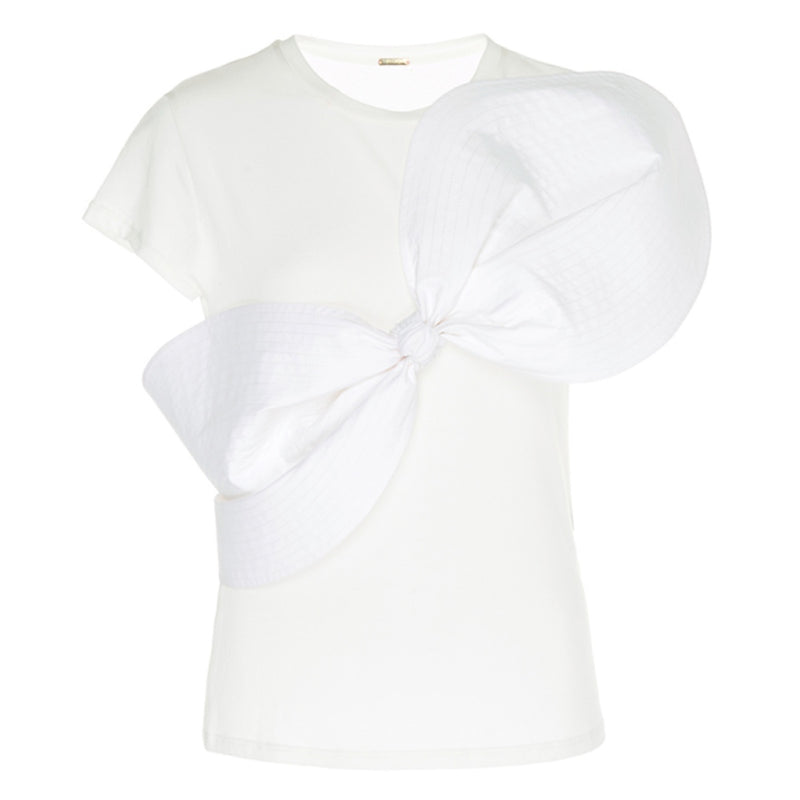 Johanna Ortiz Lennon Bow Front Cotton Top