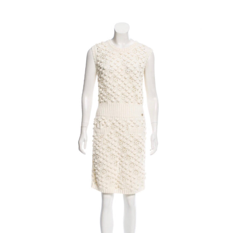 Ivory Knit Knot Dress