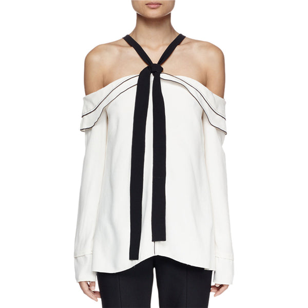 Proenza Schouler Off-The-Shoulder Blouse