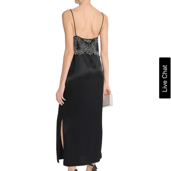 Sandro Lace Satin Slip Dress