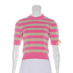 Fendi Stripe Mock Neck Sweater
