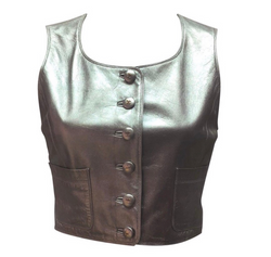 Chanel Cropped Leather Vest