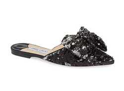 Jimmy Choo Georgia Sequin Bow Mule