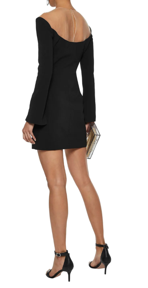 Alexander Wang Mesh-paneled Cady Mini Dress