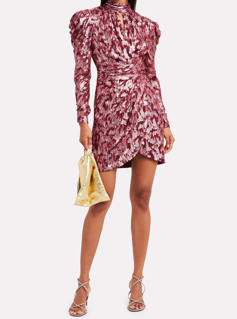 Jonathan Simkhai Brocade Mini Wrap Dress