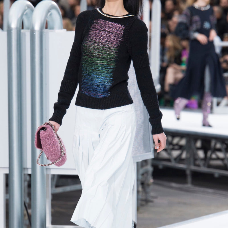 Chanel Rainbow Wool Sweater