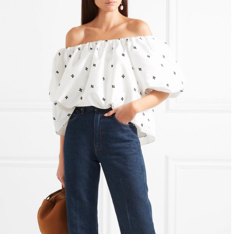 Ulla Johnson Amoy Off-the-Shoulder Top