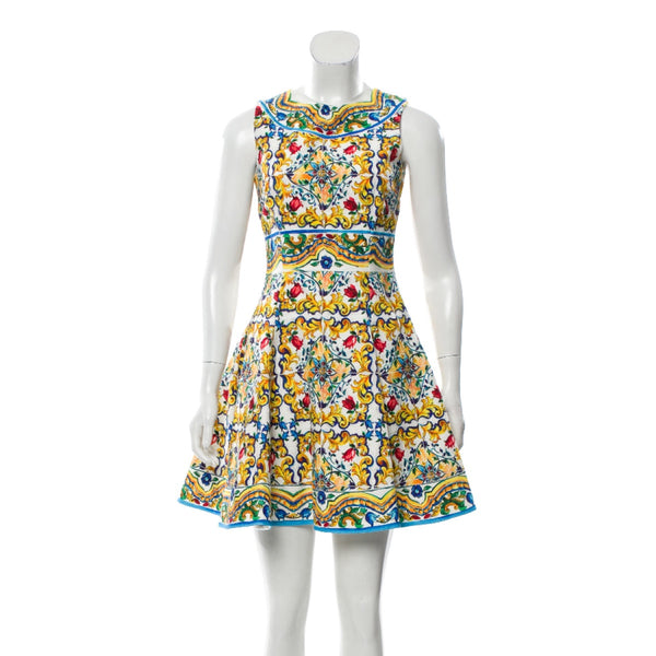 Dolce & Gabbana Majolica Sleeveless Dress