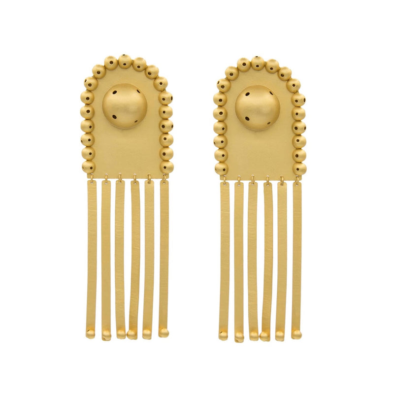 Paula Mendoza Gold Clip-on Earrings
