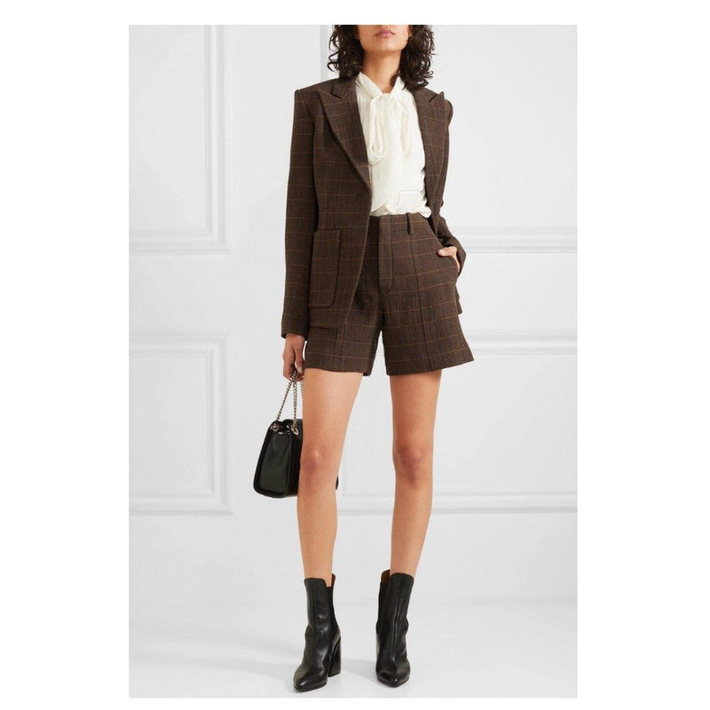 Chloé Plaid Wool Blazer