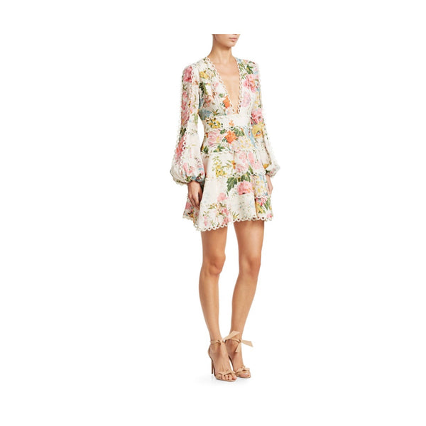 Zimmermann Heathers Flounce Floral Dress