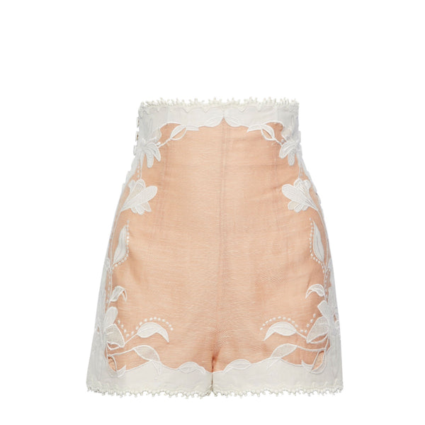 Zimmermann Corsage Lily Linen Shorts