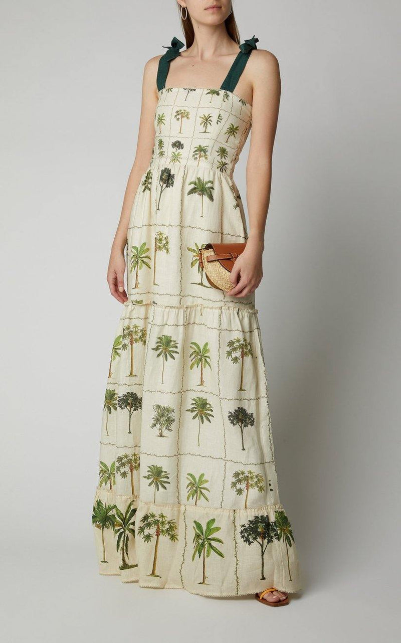 Agua by Agua Bendita Herbarium Palm Dress