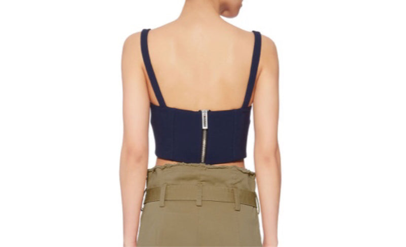 Dion Lee Double Wool Bustier Top