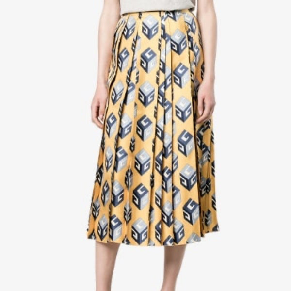Gucci Silk Printed Skirt