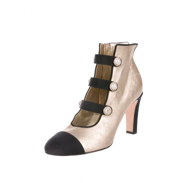 Chanel Cap Toe Ankle Bootie