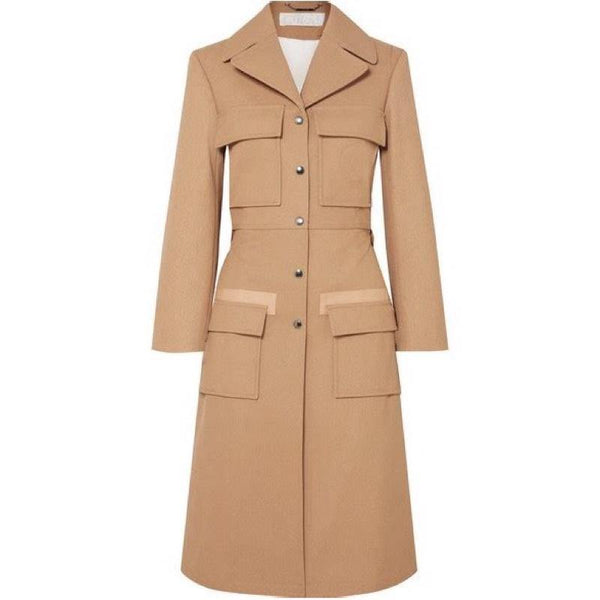 Chloé Woven Cotton Trench Coat