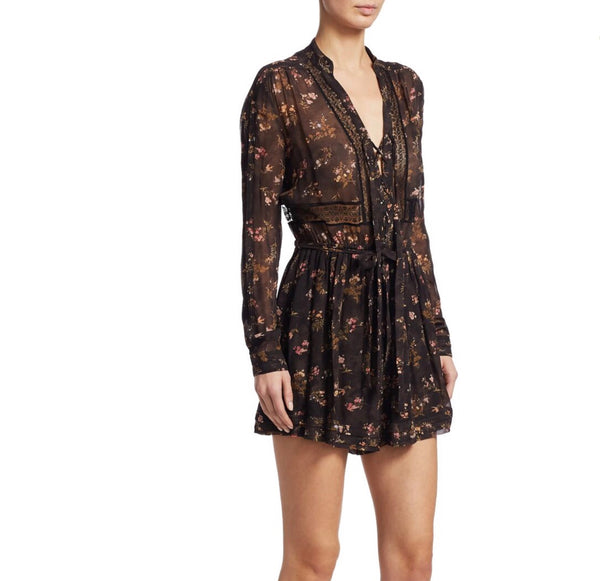 Zimmermann Sunny Wrap Tie Playsuit