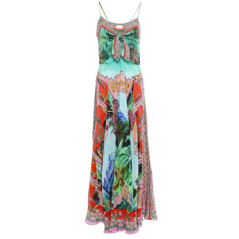 Camilla Knotted Silk Dress