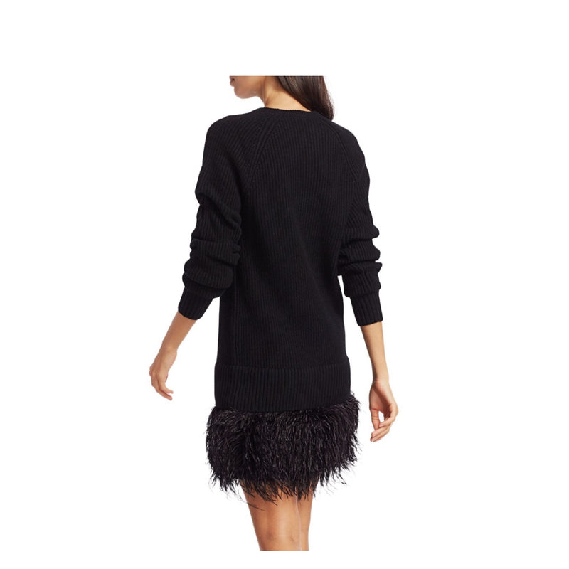 Michael Kors Collection Feather Cashmere Sweater Dress