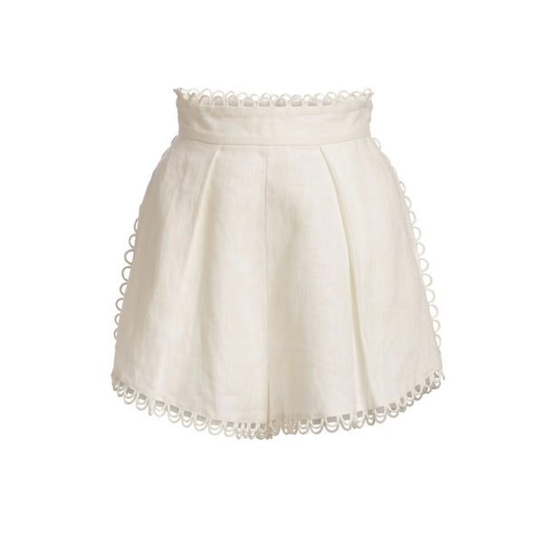 Zimmermann Allia High Waisted Linen Shorts