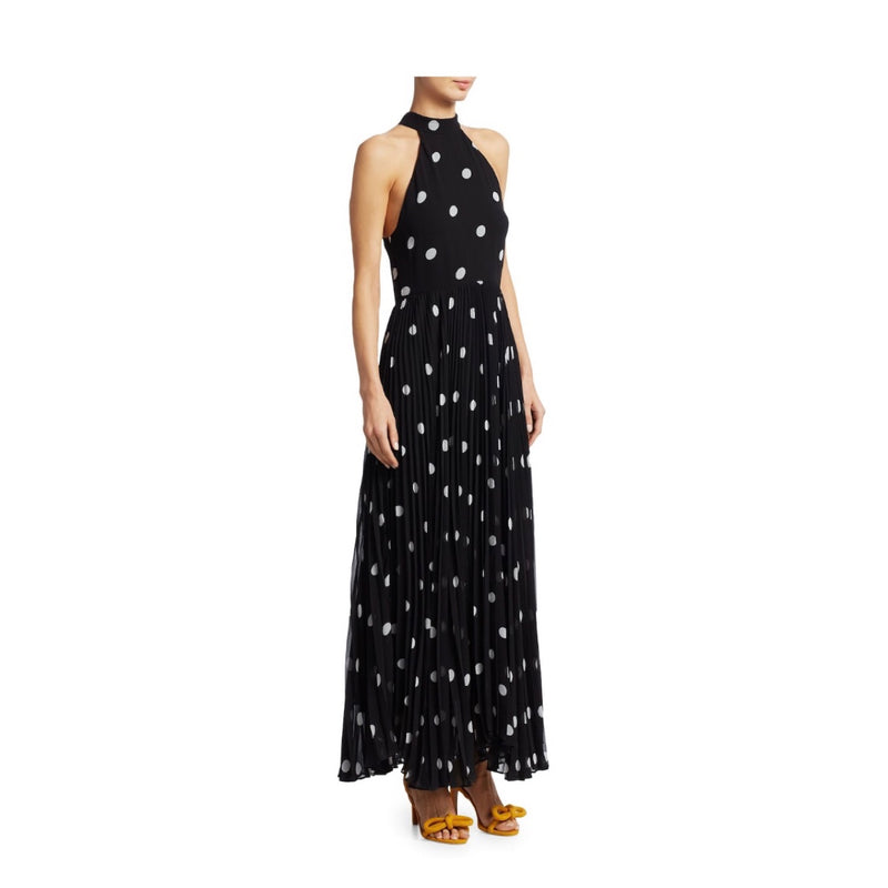 Zimmermann Sunray Polka Dot Pleated Dress