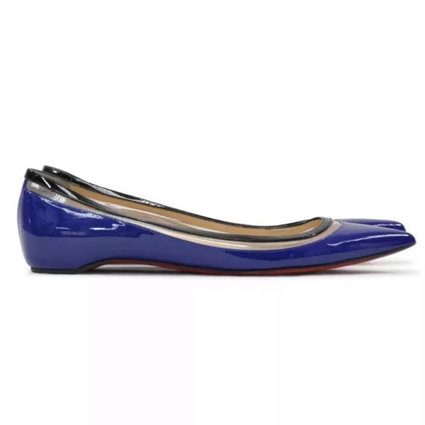 Christian Louboutin Paulina Pointed Patent Leather Flat